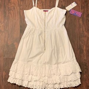 TRACY FEITH for Target white embroidered dress